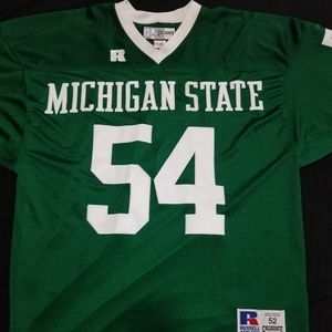 Russell Athletic Shirts - Michigan State Football Jersey #54 Banks